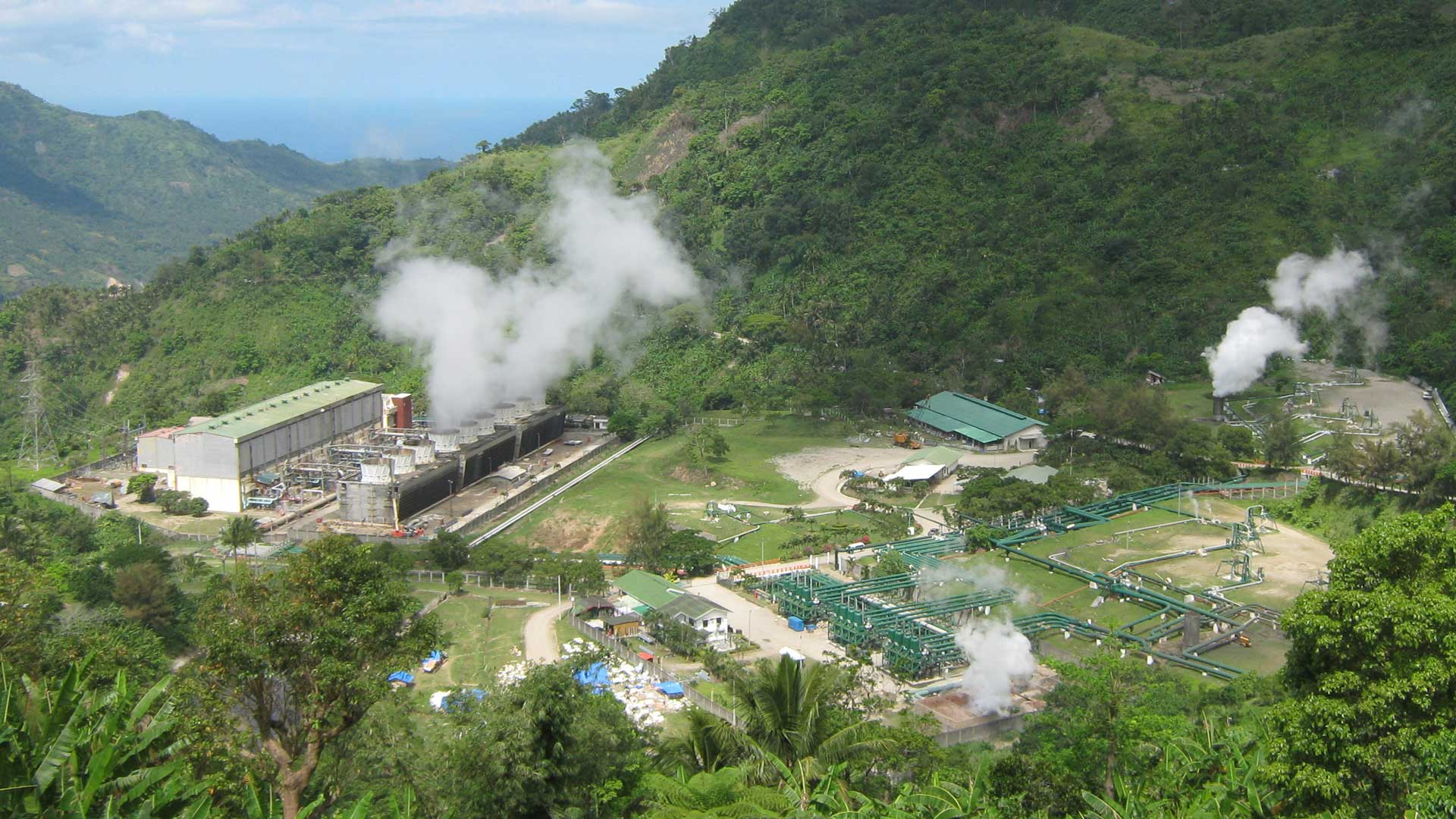 Palinpinon Geothermal power plant in the Philippines