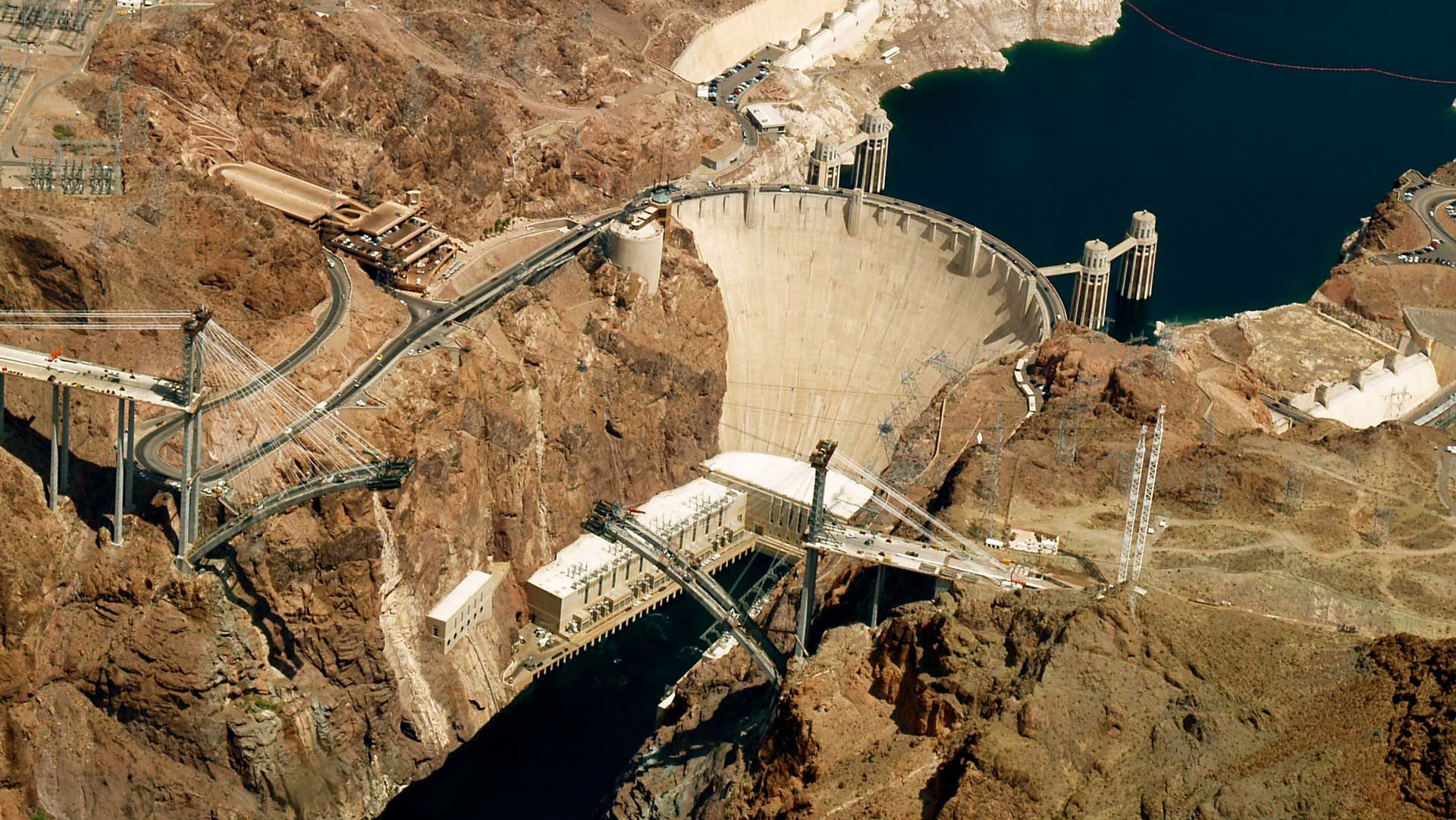Hoover Dam, from the air