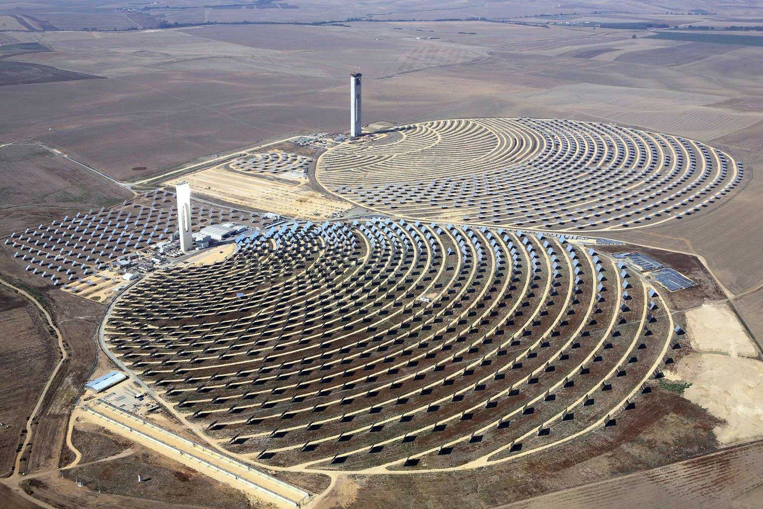 Solar power station in Andalusia, Spain