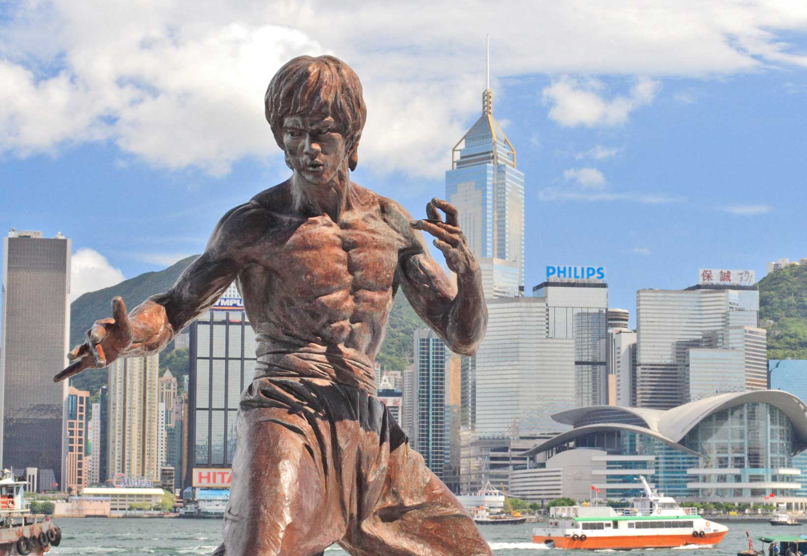 Statue of Bruce Lee in Hong Kong