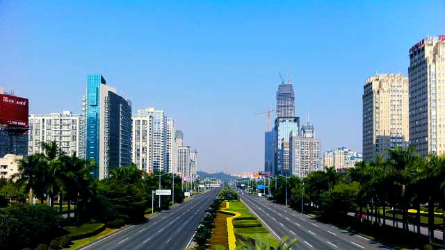 Avenue in Dongguan