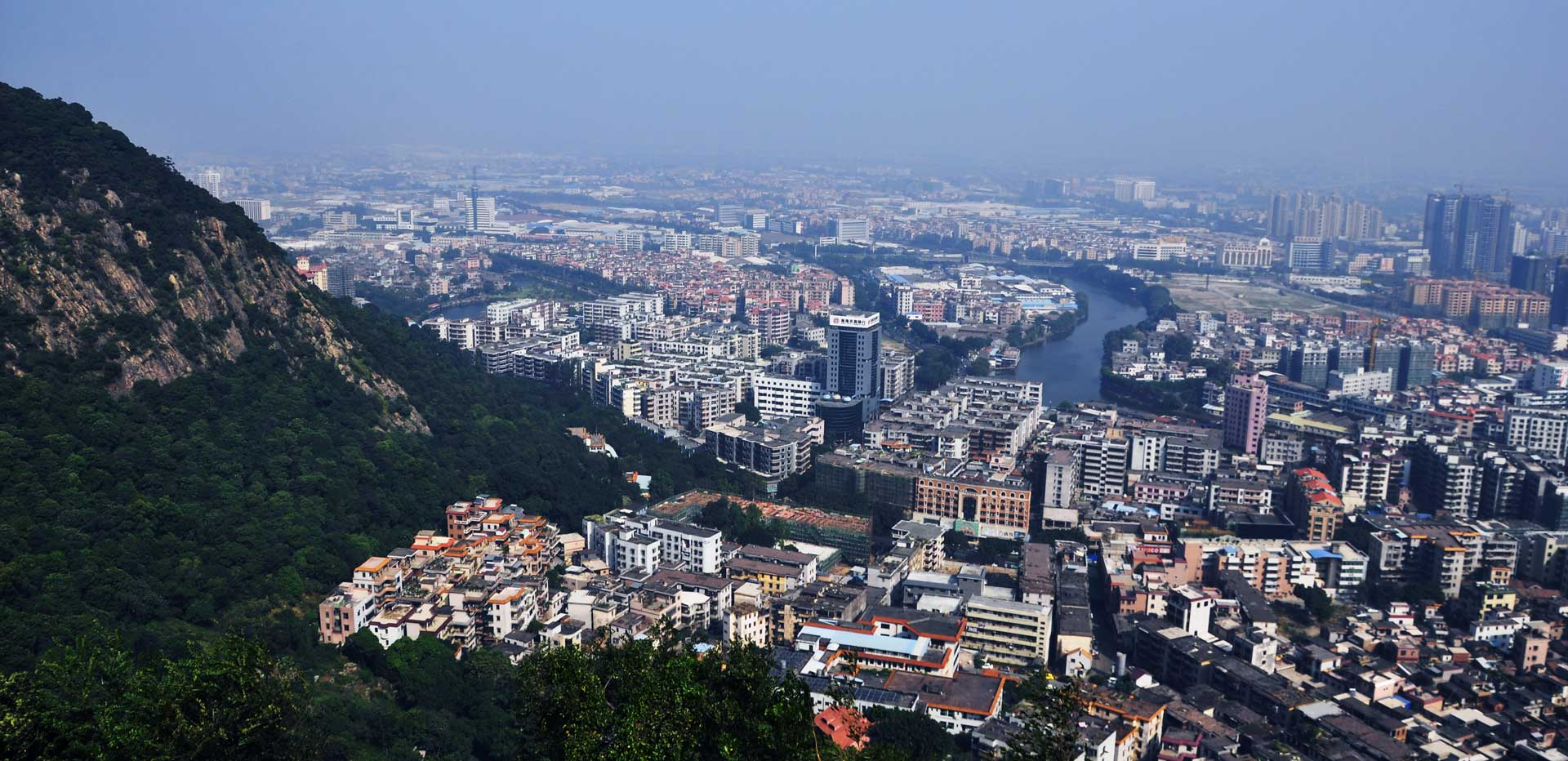 View of Foshan from Mount Xiqiao