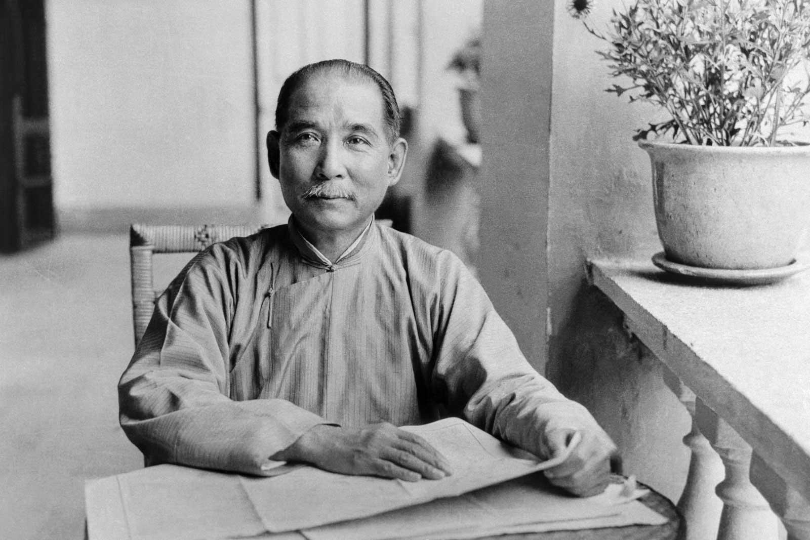 Dr. Sun Yat-sen in Canton (Guangzhou) in 1924.